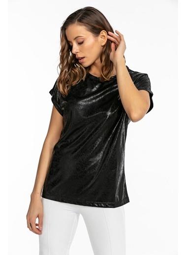 Tiffany&Tomato Varakli T-Shirt Siyah